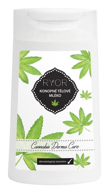 RYOR Cannabis Derma Care konopné tělové mléko pro velmi citlivou pokožku se sklonem k podráždění a zarudnutí