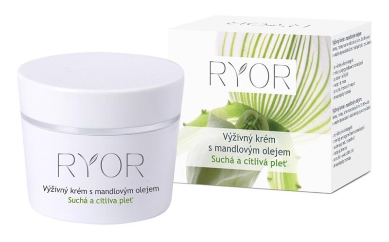 RYOR Dry And Sensitive výživný krém s mandľovým olejom