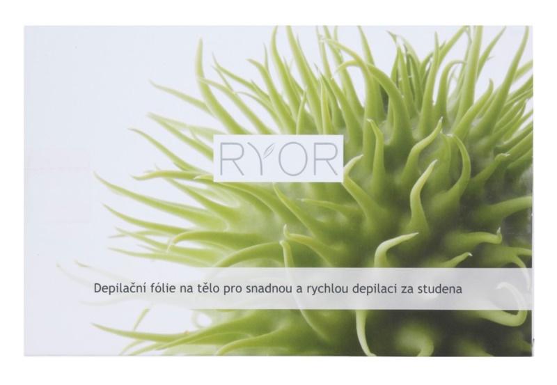 RYOR Depilation and Shaving depilačná fólia na telo pre jednoduchú a rýchlu depiláciu za studena