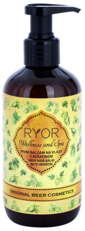 RYOR Wellness and Spa Beer Cosmetics pivni balzam za lase s keratinom