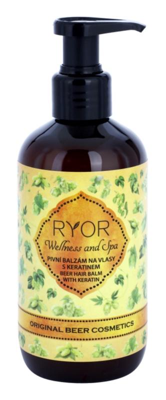 RYOR Wellness and Spa Beer Cosmetics pivní vlasový balzám s keratinem