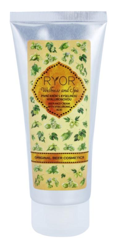 RYOR Wellness and Spa Beer Cosmetics pivní krém na obličej s kyselinou hyaluronovou