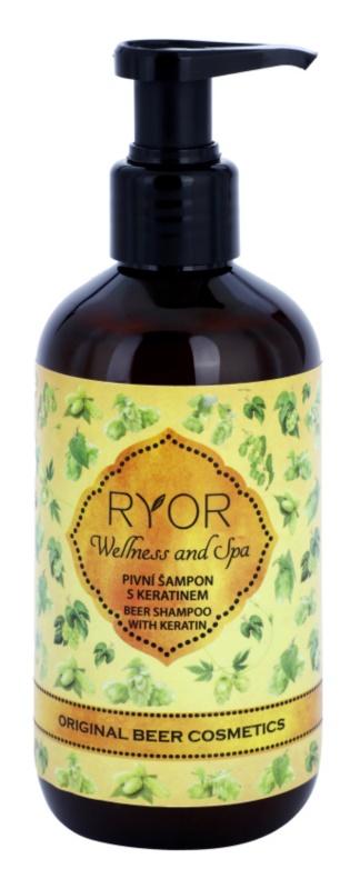 RYOR Wellness and Spa Beer Cosmetics pivný šampón na vlasy s keratínom