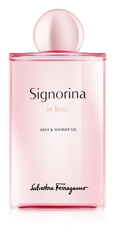 Salvatore Ferragamo Signorina in Fiore sprchový gel pro ženy 200 ml