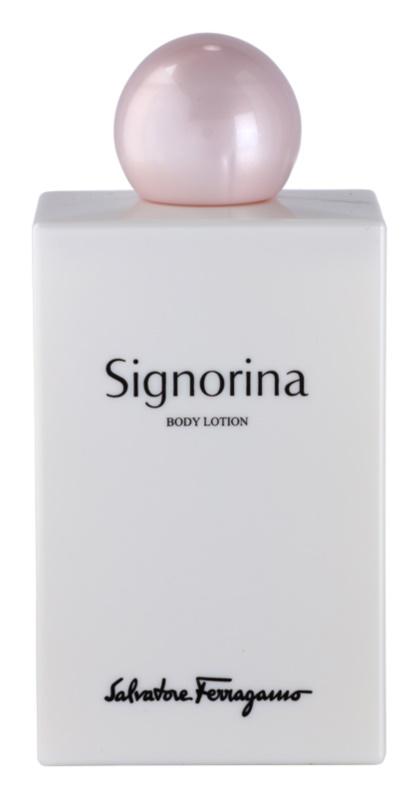 Salvatore Ferragamo Signorina lapte de corp pentru femei 200 ml