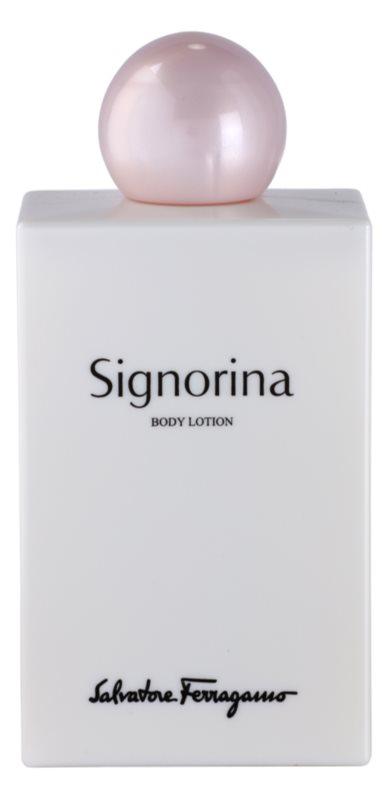 Salvatore Ferragamo Signorina leche corporal para mujer 200 ml