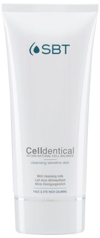 SBT Celldentical leche desmaquillante limpiadora sin perfume
