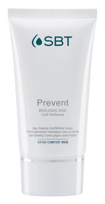 SBT Prevent crema nutritiva para las primeras arrugas con efecto humectante