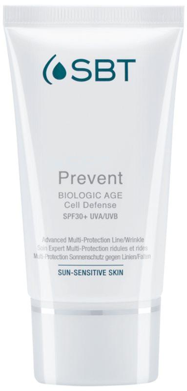 SBT Prevent krém proti prvním známkám stárnutí pleti SPF 30