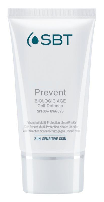 SBT Prevent krém proti prvním známkám stárnutí pleti SPF30