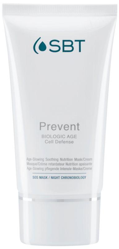 SBT Prevent intenzivně hydratační a výživná maska proti prvním známkám stárnutí pleti