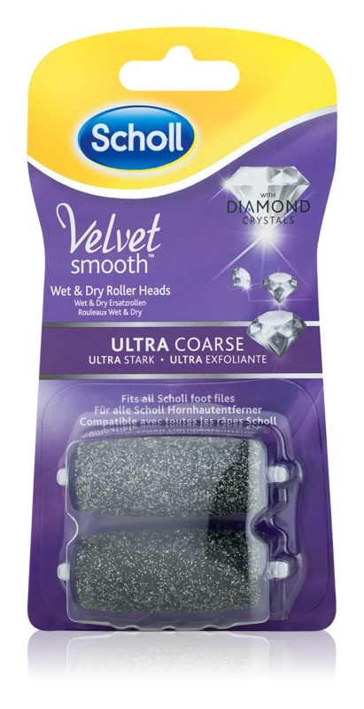 Scholl Velvet Smooth Replacement Head for Electric Foot File – Ultra Coarse