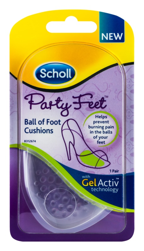 Scholl Party Feet Ultra Slim Gel Pads Under The Ball Of The Foot