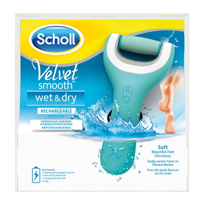 Scholl Velvet Smooth Electronic Foot File Waterproof