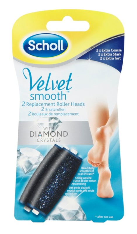 Scholl Velvet Smooth Replacement Heads For Electronic Foot File 2 pcs