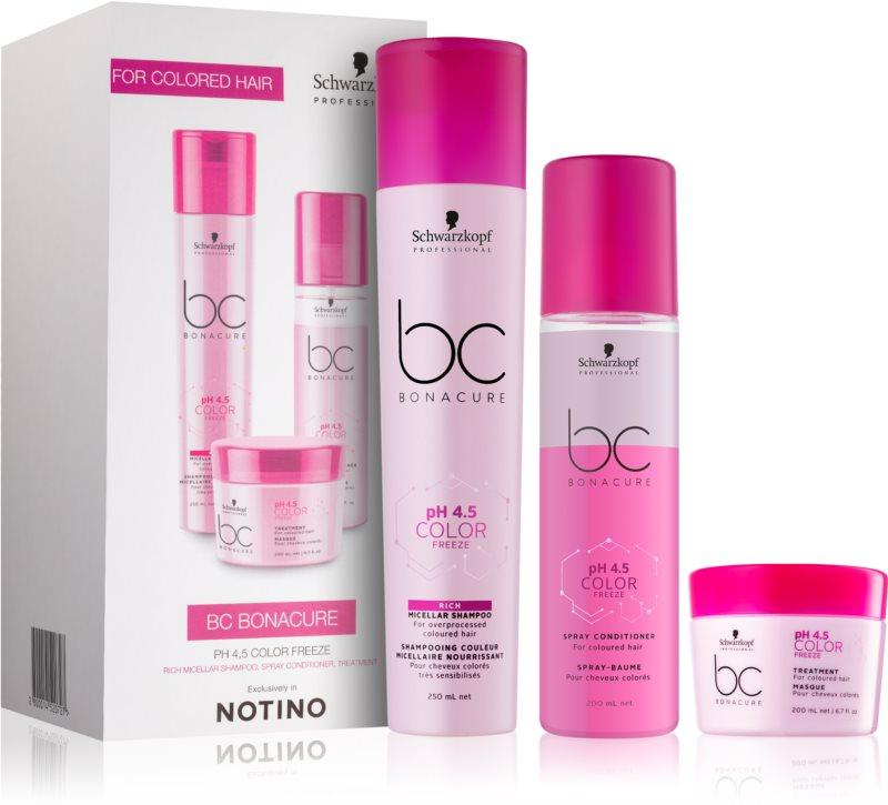 Schwarzkopf Professional pH 4,5 BC Bonacure Color Freeze Geschenkset I. (für gefärbtes Haar)