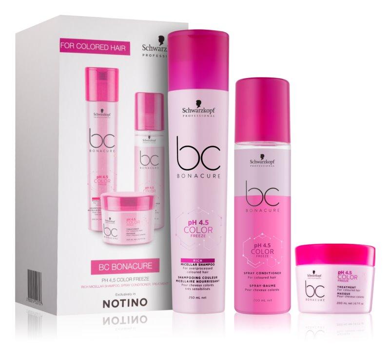 Schwarzkopf Professional pH 4,5 BC Bonacure Color Freeze set cosmetice I.