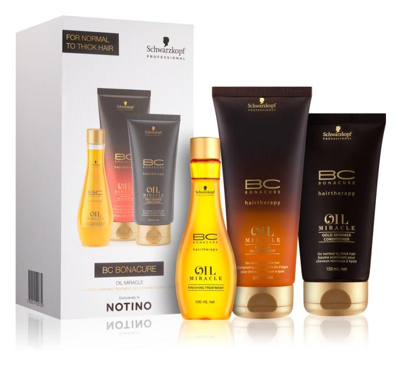 Schwarzkopf Professional BC Bonacure Oil Miracle Argan Oil ajándékszett I. (vastag szálú haj)