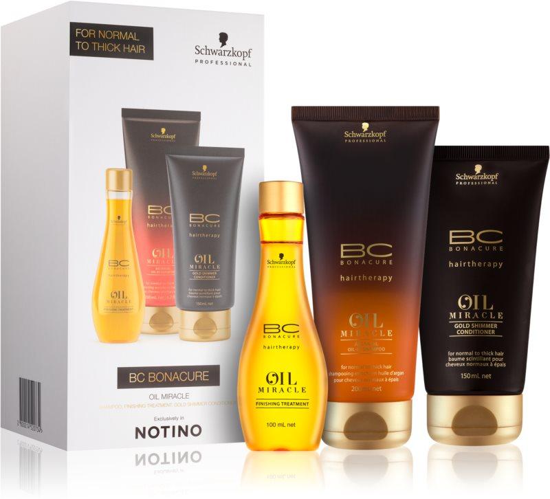 Schwarzkopf Professional BC Bonacure Oil Miracle Argan Oil Geschenkset I. (für grobes Haar)