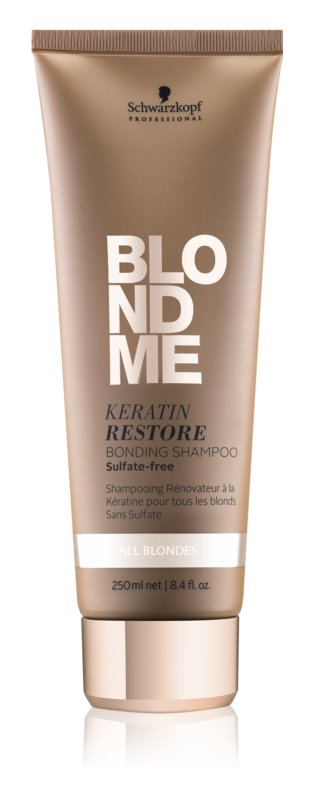 Schwarzkopf Professional Blondme champô restaurador com queratina para todos os tipos de cabelo loiro