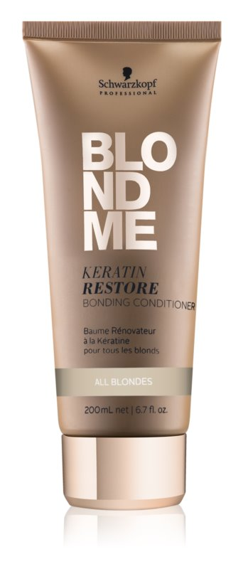 Schwarzkopf Professional Blondme Keratin Restore Conditioner For All Types Of Blonde Hair