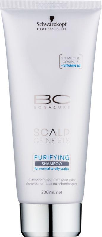 Schwarzkopf Professional BC Bonacure Scalp Genesis Reinigende Shampoo  voor Normaal tot Vet Haar