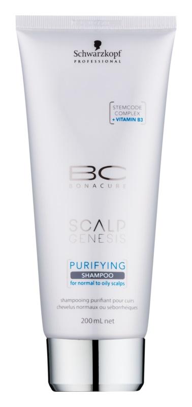 Schwarzkopf Professional BC Bonacure Scalp Genesis почистващ шампоан за нормална към омазняваща се коса