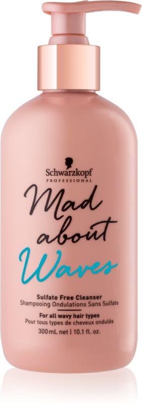 Schwarzkopf Professional Mad About Waves hydratační šampon pro vlnité a kudrnaté vlasy bez obsahu sulfátů
