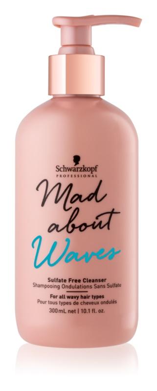 Schwarzkopf Professional Mad About Waves vlažilni šampon za valovite in kodraste lase brez sulfatov