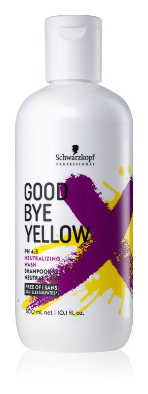 Schwarzkopf Professional Good Bye Yellow šampon za nevtralizacijo rumenih tonov za barvane lase in lase s prameni