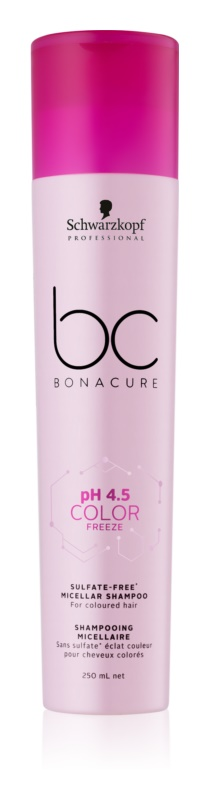 Schwarzkopf Professional PH 4,5 BC Bonacure Color Freeze Micelárny šampón bez sulfátov a parabénov