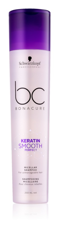 Schwarzkopf Professional BC Bonacure Smooth Perfect Micelárny šampón pre nepoddajné vlasy