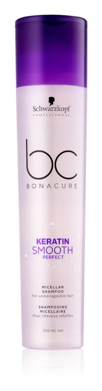 Schwarzkopf Professional BC Bonacure Smooth Perfect shampoing micellaire pour cheveux indisciplinés