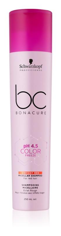 Schwarzkopf Professional PH 4,5 BC Bonacure Color Freeze Мицеларен шампоан за коса с червени нюанси