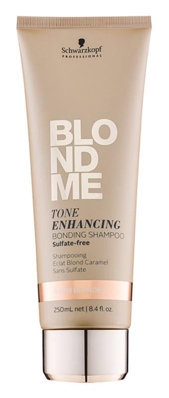 Schwarzkopf Professional Blondme bezsulfátový šampon pro teplé odstíny blond