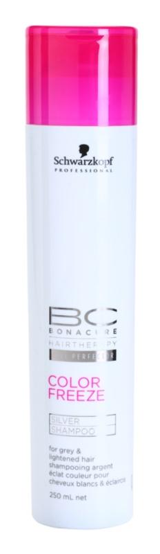 Schwarzkopf Professional PH 4,5 BC Bonacure Color Freeze sampon ezüst fénnyel szőke és ősz hajra
