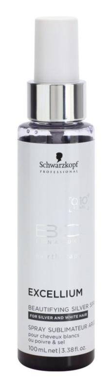 Schwarzkopf Professional BC Bonacure Excellium Beautifying spray z srebrnymi pigmentami w celu ożywienia blond i siwych włosów