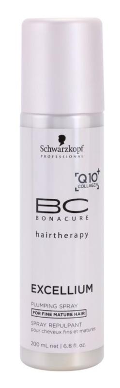 Schwarzkopf Professional BC Bonacure Excellium Plumping незмивний кондиціонер у формі спрею для зрілого волосся