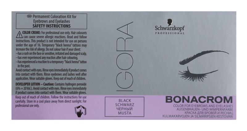 Schwarzkopf Professional Igora Bonacrom barva za obrvi in trepalnice z aktivatorjem
