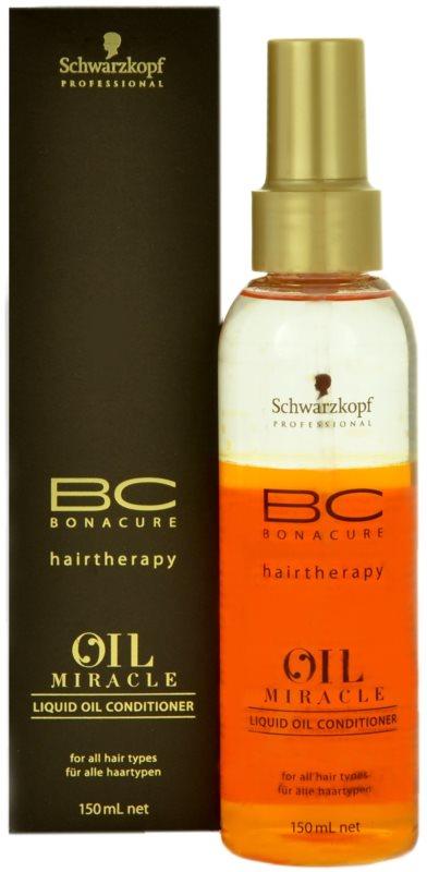 Schwarzkopf Professional BC Bonacure Oil Miracle Argan Oil condicionador em spray  para todos os tipos de cabelos