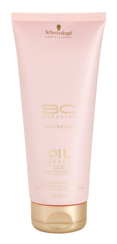 Schwarzkopf Professional BC Bonacure Oil Miracle Rose Oil olejový šampón pre namáhané vlasy a vlasovú pokožku