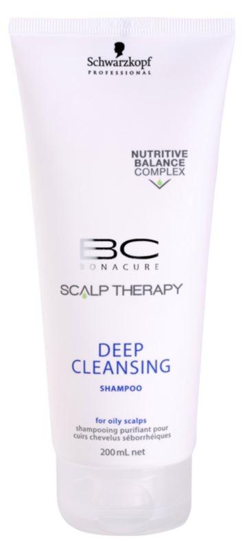 Schwarzkopf Professional BC Bonacure Scalp Therapy głęboko oczyszczający szampon do przetłuszczającej się skóry głowy