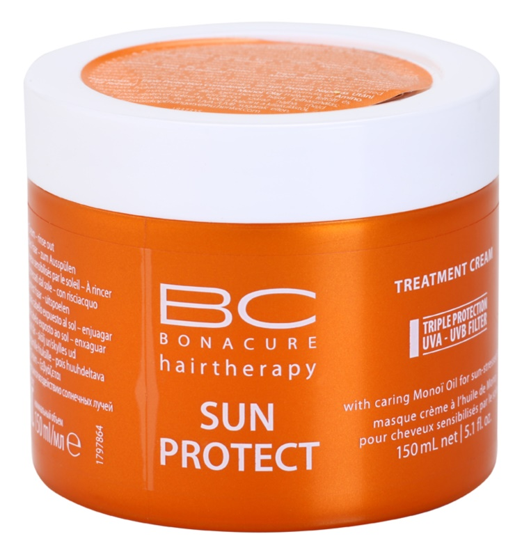 Schwarzkopf Professional BC Bonacure Sun Protect Treatment Cream With Caring Mono Oil for Sun - Stressed Hair
