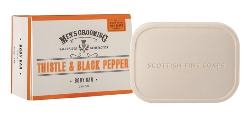 Scottish Fine Soaps Men's Grooming Thistle & Black Pepper Soap For Men