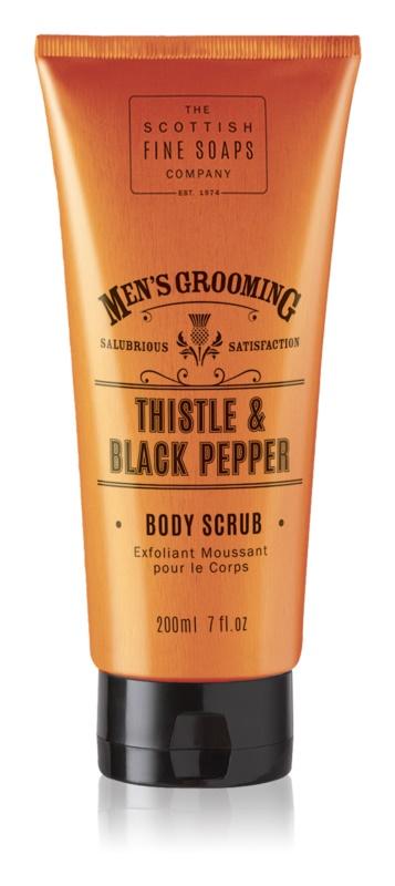 Scottish Fine Soaps Men's Grooming Thistle & Black Pepper povzbudzujúci peeling pre mužov