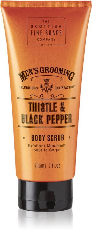 Scottish Fine Soaps Men's Grooming Thistle & Black Pepper povzbuzující peeling pro muže
