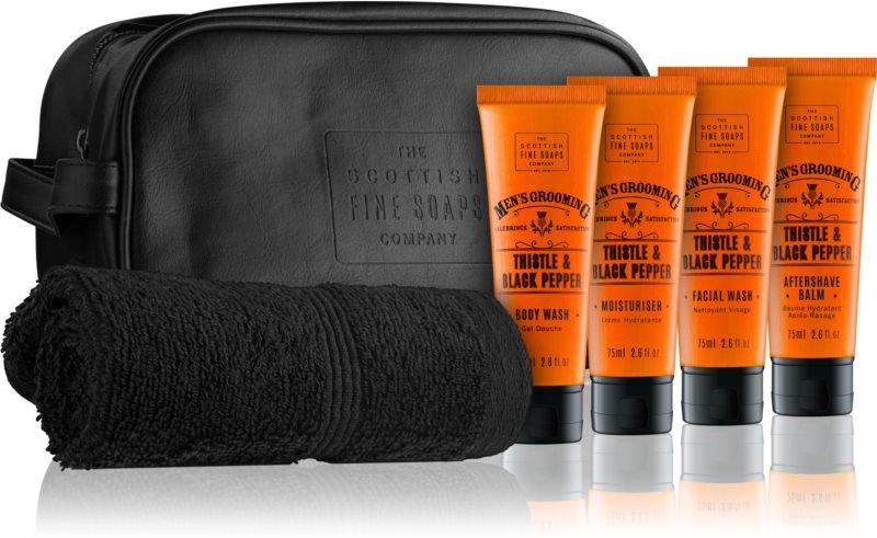 Scottish Fine Soaps Men's Grooming Thistle & Black Pepper kosmetická sada III.