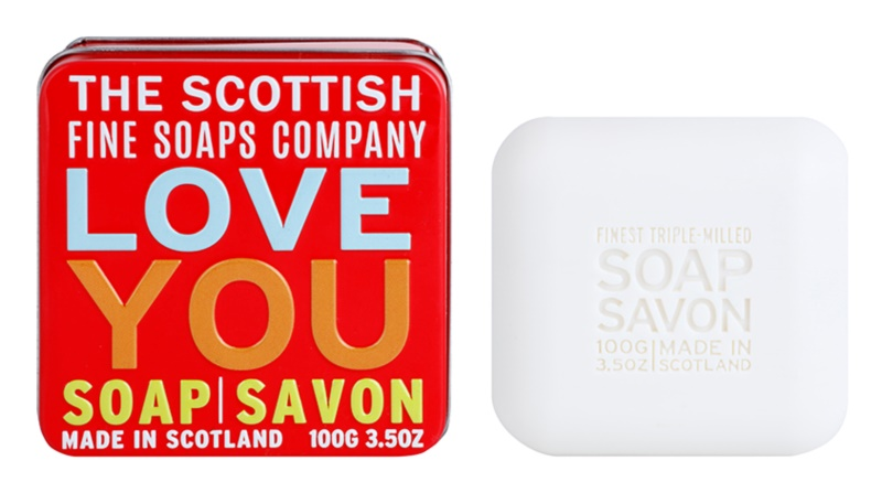 Scottish Fine Soaps Love You Luxusseife mit Blechetui