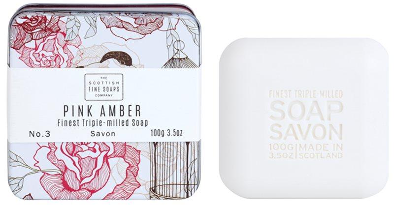 Scottish Fine Soaps Pink Amber luxusné mydlo v plechovej dóze