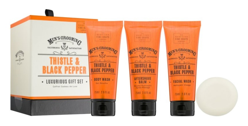 Scottish Fine Soaps Men's Grooming Thistle & Black Pepper Kosmetik-Set  I.